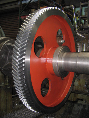 Double helical gear at Gear Design & Service Pty Ltd
