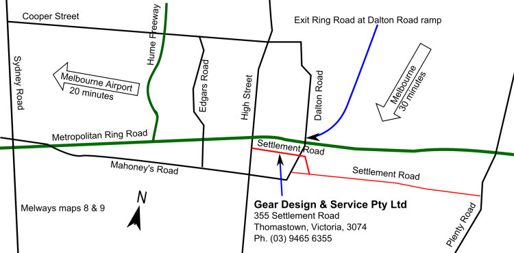 Location of Gear Design & Service Pty Ltd