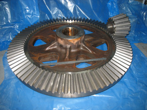 Large straight bevel gear at Gear Design & Service Pty Ltd